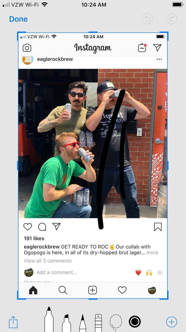 الطريقة الثانية: حفظ الصور عن طريق لقطات الشاشة Screenshot