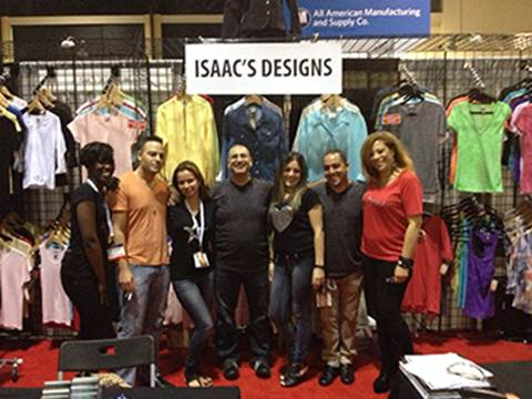 T-SHIRTS4MONEY COM: AT THE ISS SHOW IN ORLANDO, ISAAC'S DESIGNS