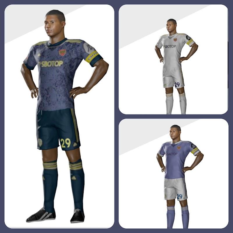 Kit Leeds United 2022 + Logo Dream league soccer 2021