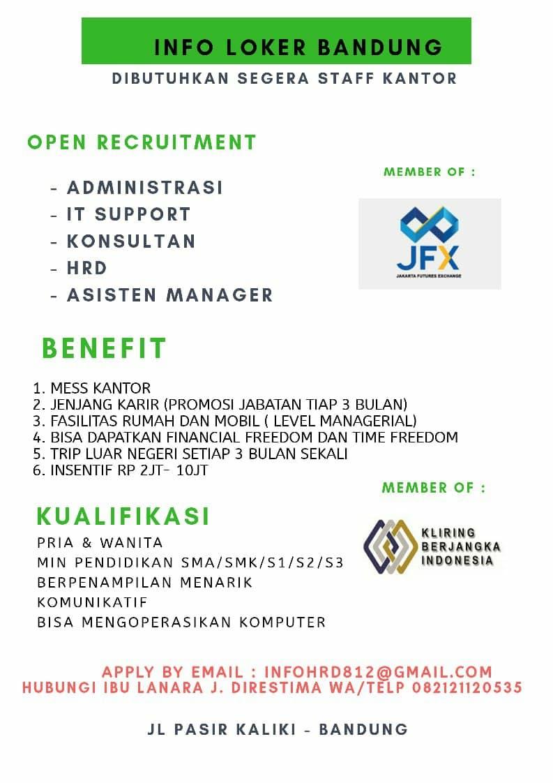 Lowongan Kerja PT. Kontak Perkasa Bandung Desember 2020