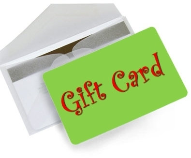 Online shopping gift cards