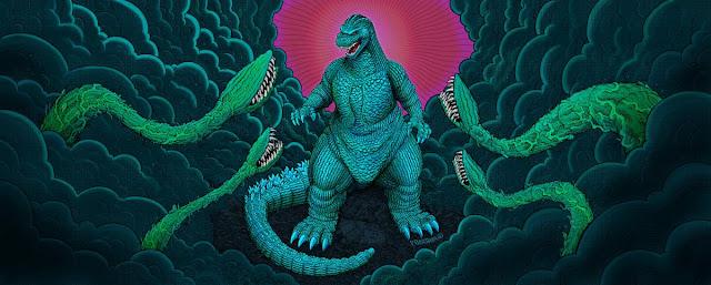 Mondo GODZILLA '89 PREMIUM SCALE STATUE packaging art