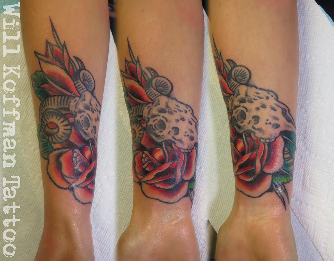 Traditional Animal Skull Tattoo