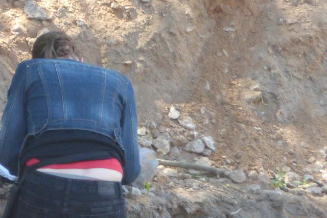 в районе археологических раскопок