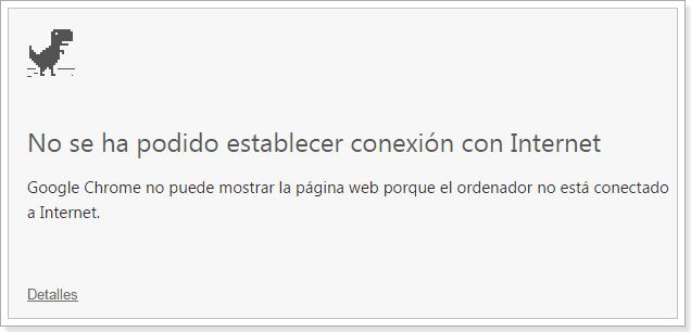 No se pudo conectar a Internet Chrome