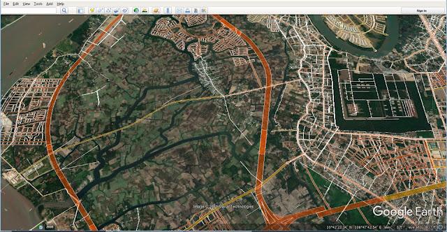 Mạng lưới đường giao thông qua trung tâm Nhơn Trạch chi tiết