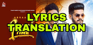 Good Time Lyrics in English | With Translation |  – Abraam | R Nait