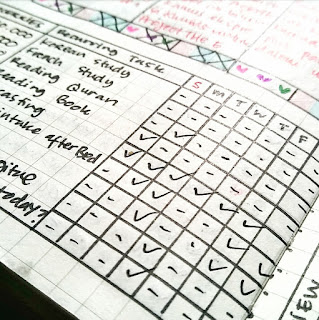contoh tracker bullet journal