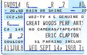 Eric Clapton, September 14, 1988