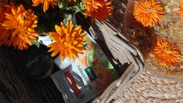 Naturalne spa dla stóp - pomarańcze i nagietki