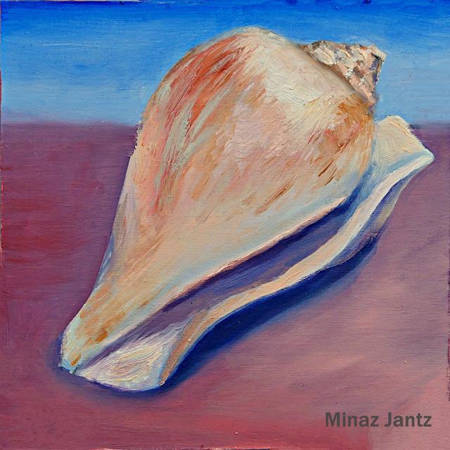 Conch Shell by Minaz Jantz (Oil)