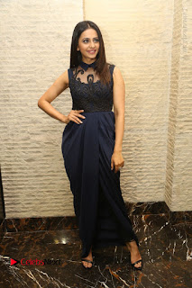 Actress Rakul Preet Singh Stills in Beautiful Blue Long Dress at Dhruva Salute to Audience Event  0119.JPG