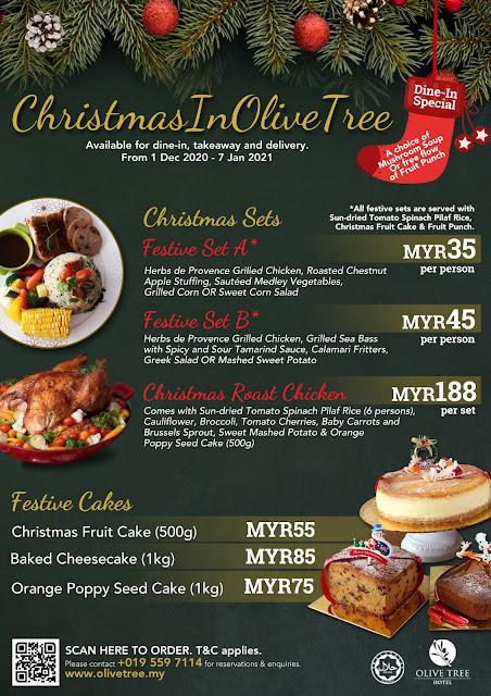 Christmas Penang Meal Set Olive Tree Hotel Penang Penang Blogger Malaysia Blogger Influencer www.barryboi.com Christmas Food Penang