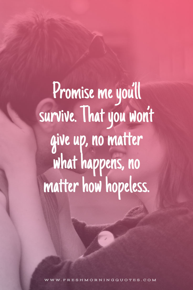 promise me you will survive