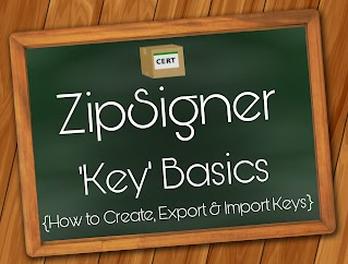 How to create and import keystores in ZipSigner
