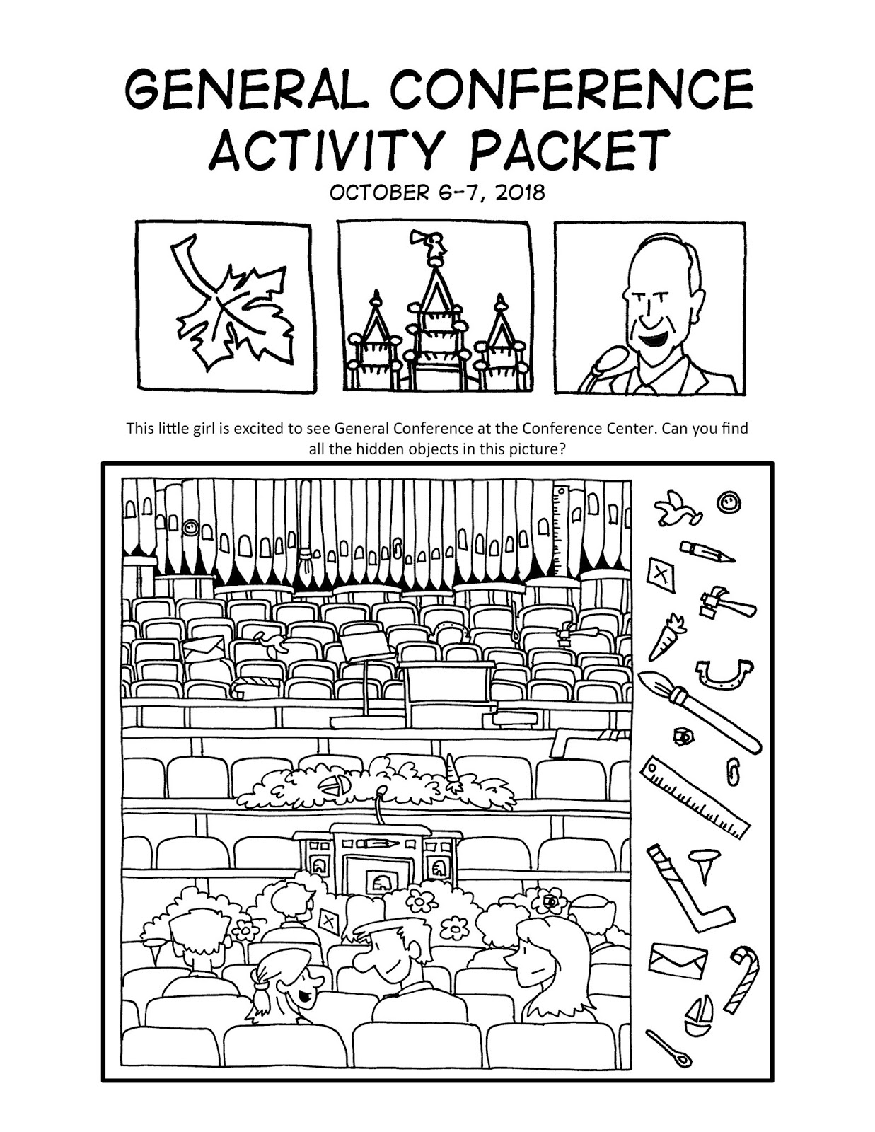Ward Cartoonist Your October 2018 General Conference Activity Packet