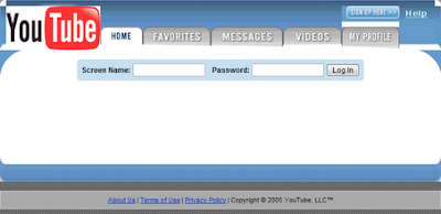 Image of YouTube's original interface.