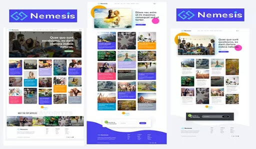 Nemesis premium blogger template free download