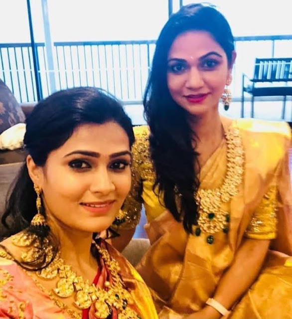 Sneha Reddy and her Sister in Mango Mala