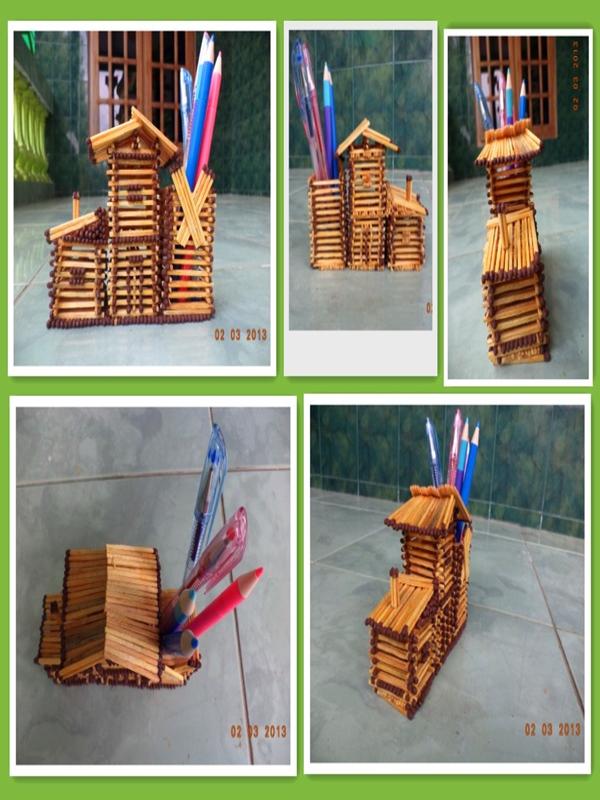 Cara Membuat Rumah Dari Korek Api : membuat, rumah, korek, Kerajinan, Tangan, Korek, Simple,, Konsep, Terbaru!