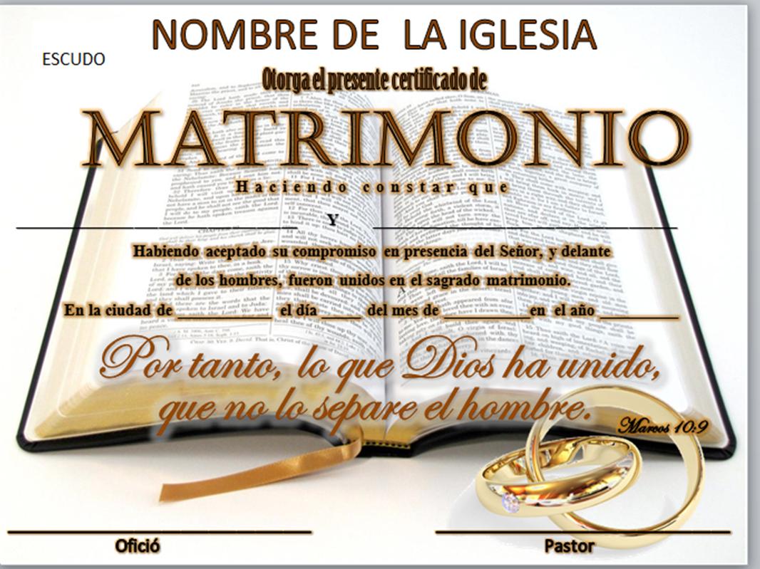 Juramento Matrimonio Catolico : Iglesia mar abierto certificados de matrimonio para