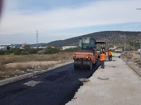 Radovi na asfaltiranju Nerežišća slike otok Brač Online