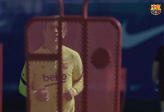 تدريبات برشلونة استعدادا لعودة الدوري الإسباني