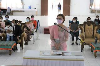 Ny. Lidya Kristina Dosmar Banjarnahor dikukuhkan sebagai Bunda PAUD Kabupaten Humbahas