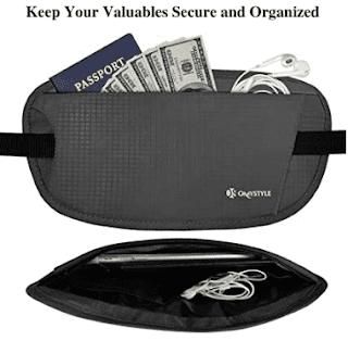 $6.27, OMYSTYLE Money Belt with RFID Blocking