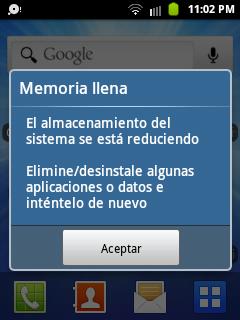 memoria llena android