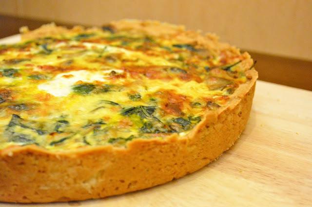 receita de torta de legumes e cogumelos