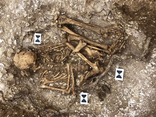 Human remains unearthed at site of early Roman military base in Kent