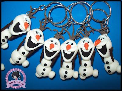 lembrancinhas Frozen em biscuit