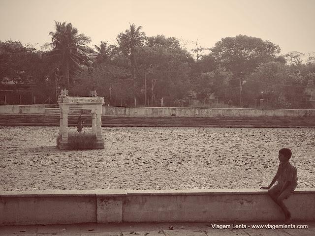 Mahabalipuram, próximo a Shore Temple