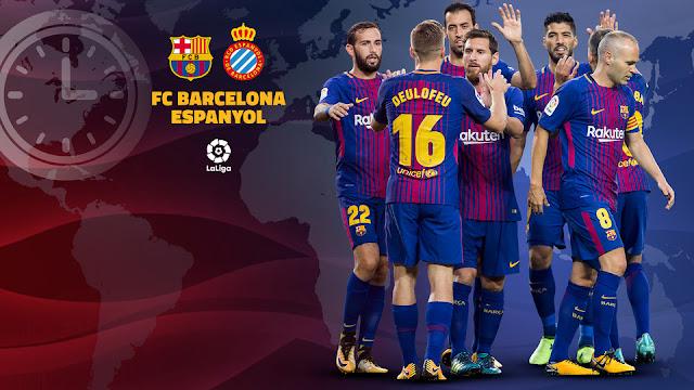 الان موعد وتوقيت مباراة برشلونة وإسبانيول اليوم 4-2-2018 والقنوات المجانية الناقلة لمباراة برشلونة وإسبانيول في الدوري الإسباني
