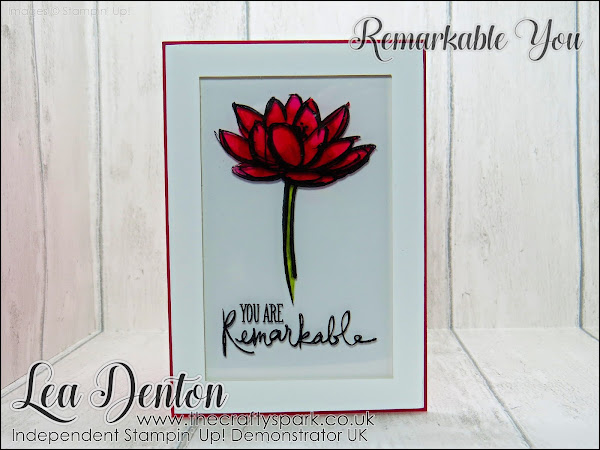 Stampin' Blends Faux Stained Glass Card with Remarkable You Stamp Set