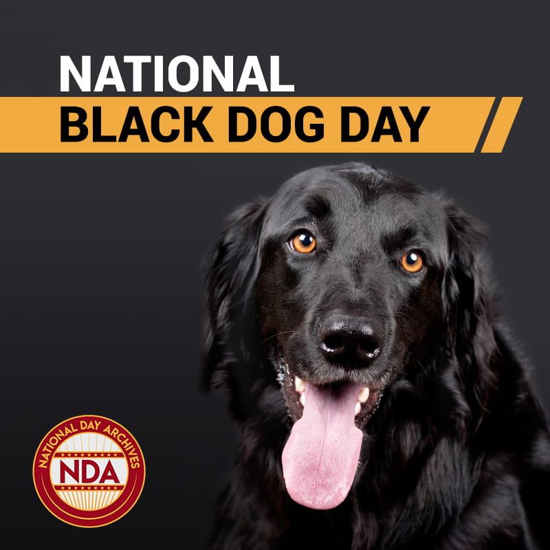 National Black Dog Day Wishes Images download