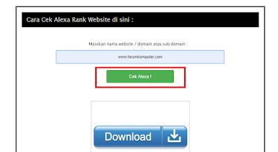 Cara Cek Alexa PageRank Blog Atau Website Paling Mudah