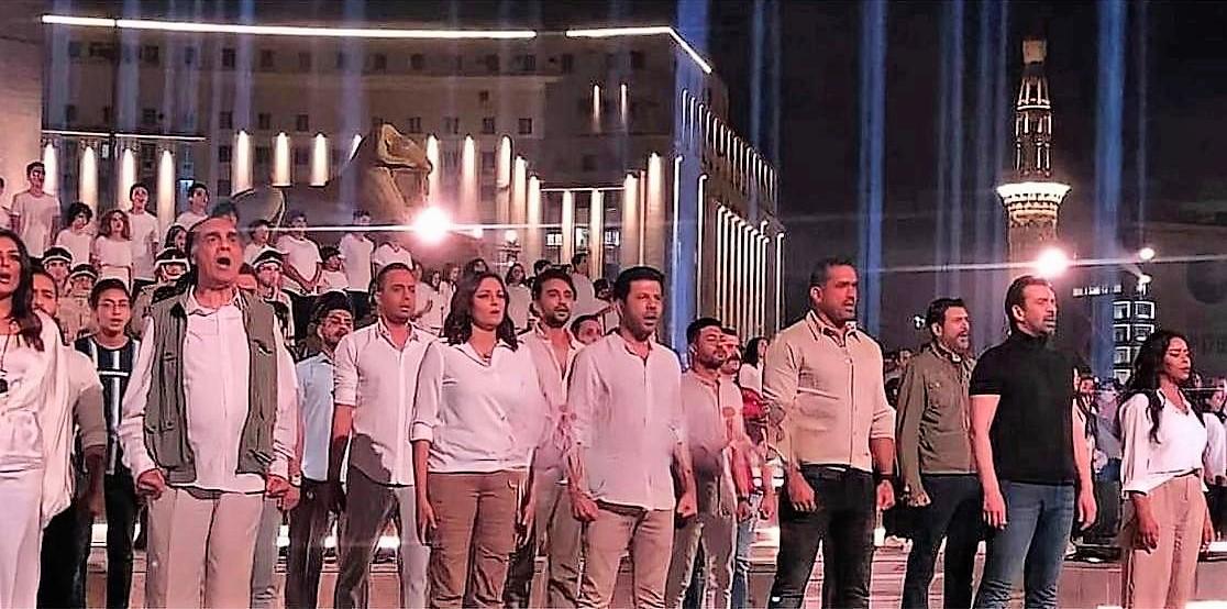 """أبطال """"الاختيار"""" الأول والثاني في ميدان التحرير  لتصوير أوبريت غنائي"""