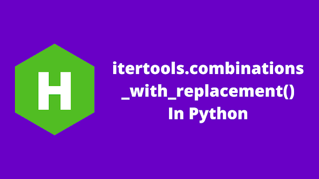 HackerRank itertools.combinations_with_replacement() in python problem solution