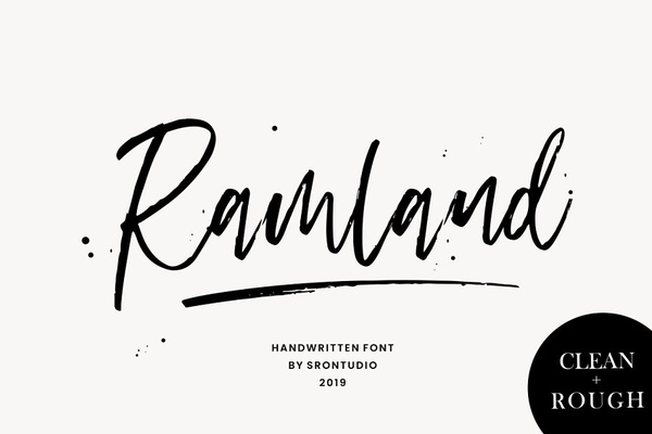 Ramland Clean And Rough Script Font