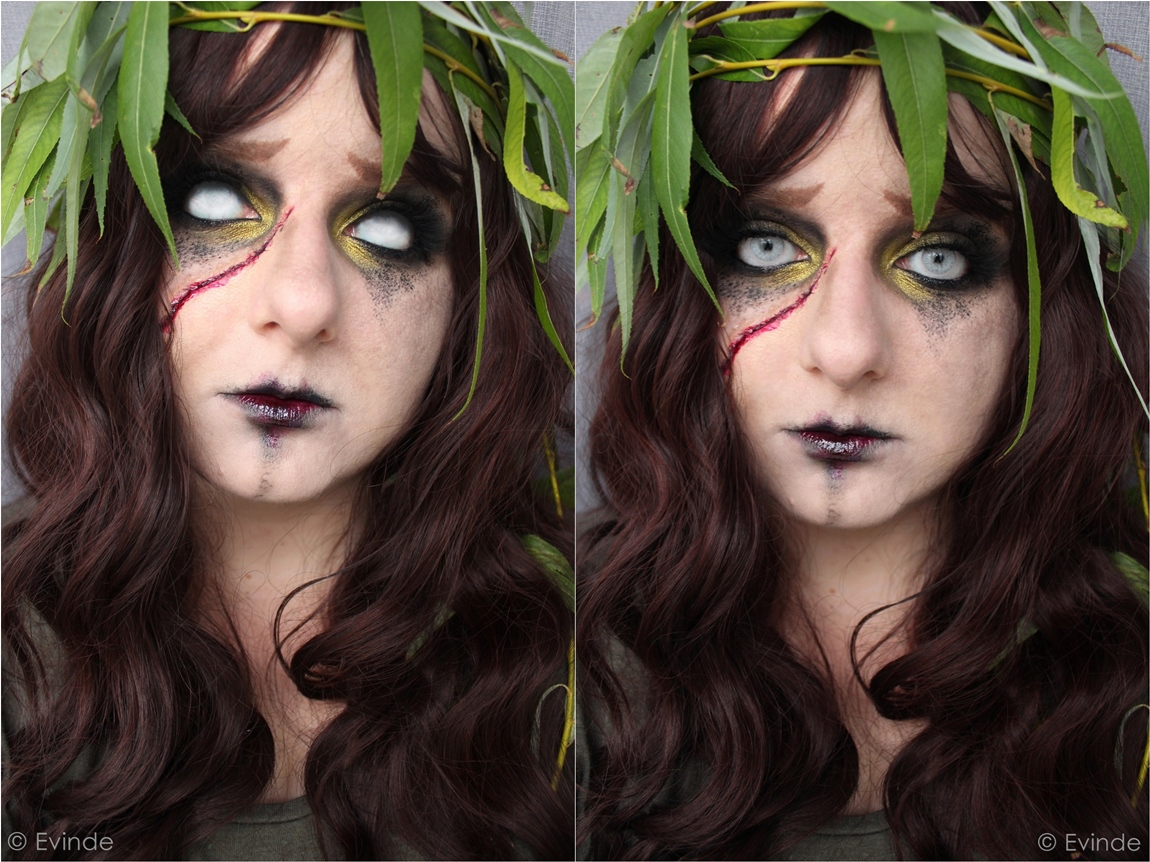 weeping willow halloween makeup