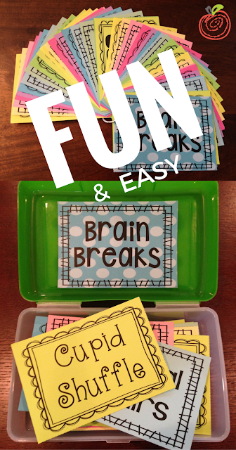 Brain Break Printable Cards & Ideas