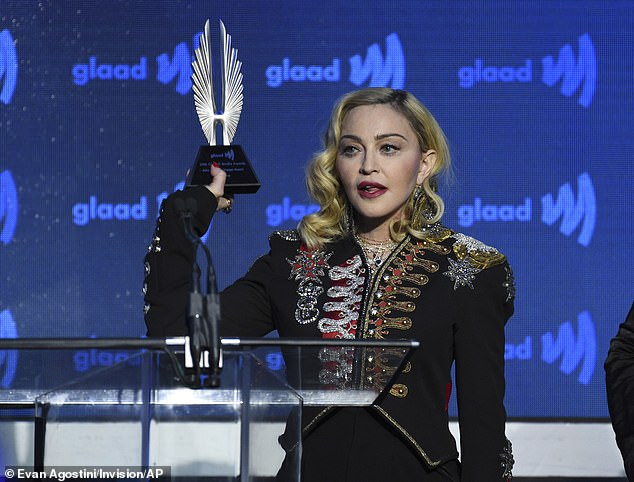 Popular singer Madonna was among the many artistes who were honoured at GLAAD Media Awards New York.