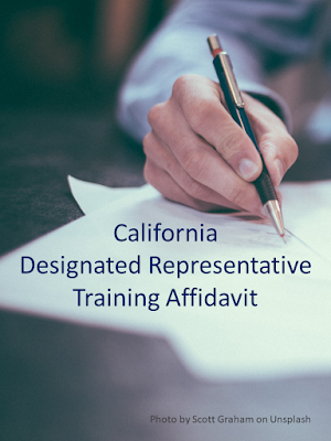 California Board of Pharmacy Designated Representative Training - online training courses by SkillsPlus International Inc. -  If you are applying for a California Designated Representative license, then you're also going to need to include proof of required training (specifically, a training affidavit) in your license application packet. Earn a training affidavit (accepted by the Board) by taking any one of our courses. Approved by the California State Board of Pharmacy