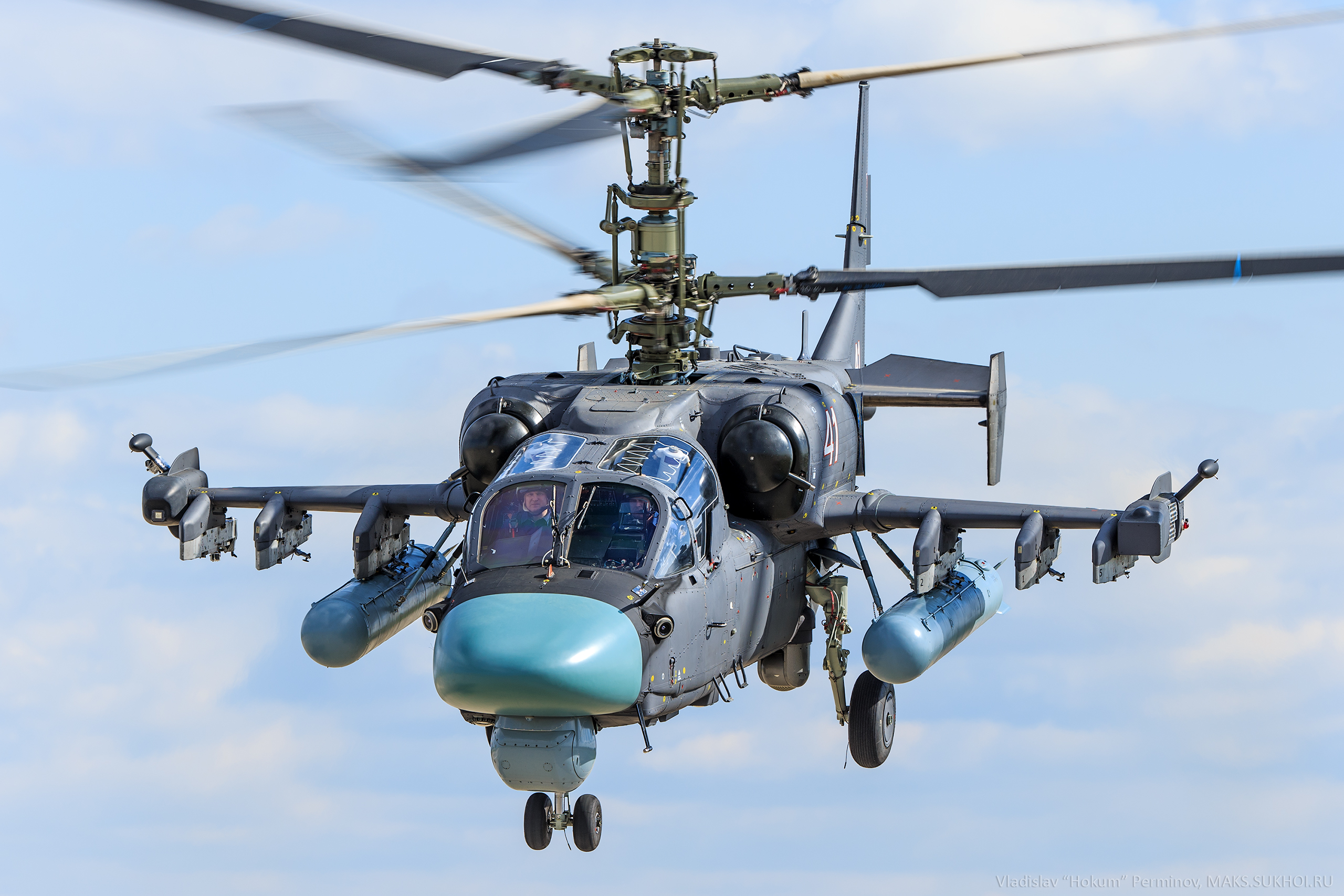 3 Kamov Ka-52 Hokum-B most powerful military helicopters