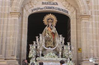 Horario e Itinerario de la Salida Procesional de Nuestra Señora del Carmen. Jerez de la Frontera 16 de Julio del 2021