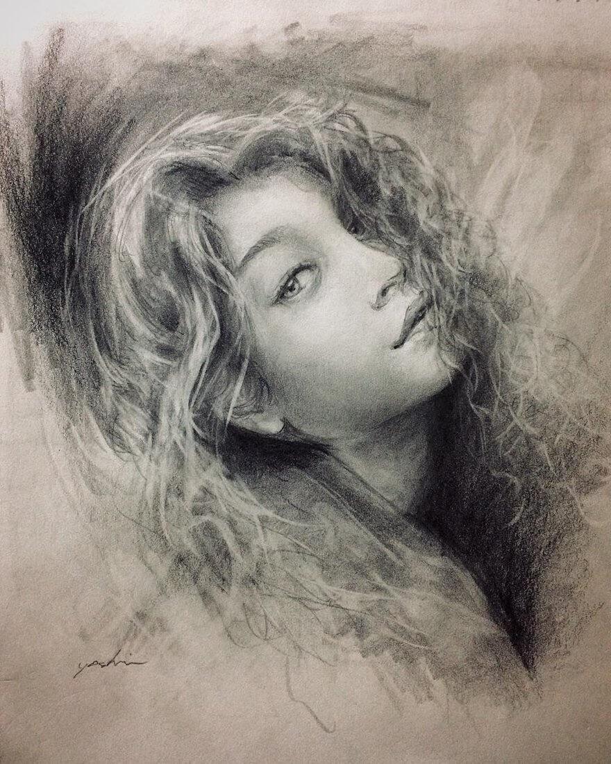 01-@dollsjain-Yoshi-Portrait-Drawings-of-People-on-Instagram-www-designstack-co