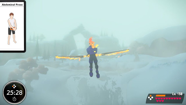 Ring Fit Adventure Snowflurry Valley Wing Ability flying in fog Spring Dancer World 18