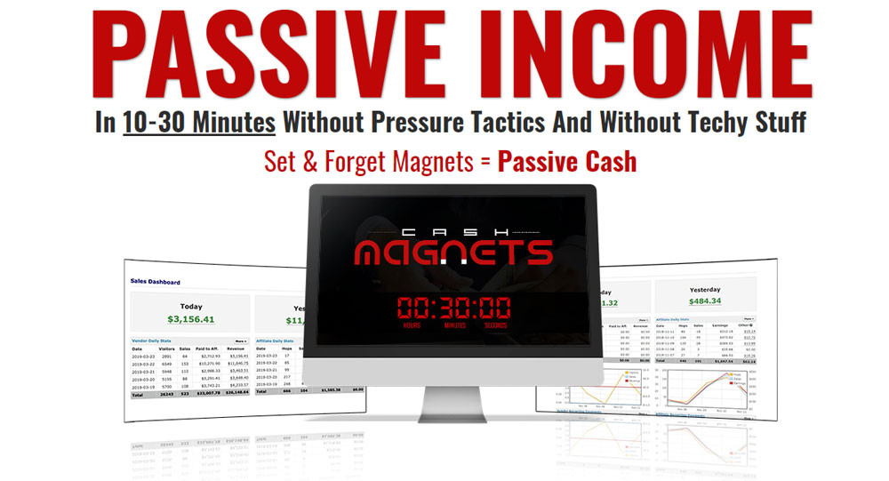 Cash Magnets by Brendan Mace let you get Everything to Start PULLING-IN Commissions